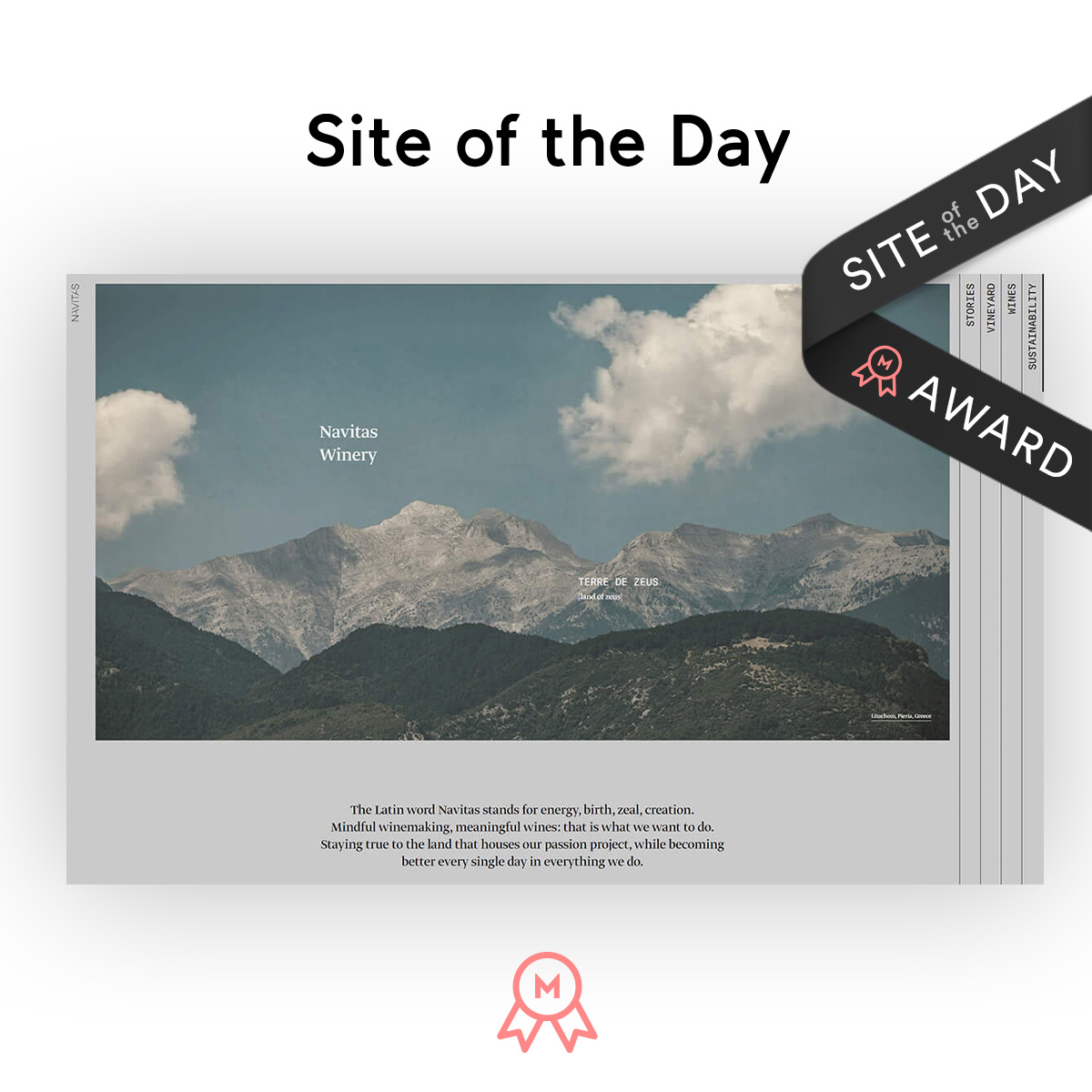 Navitas as site of the day on Mindsparkle mag
