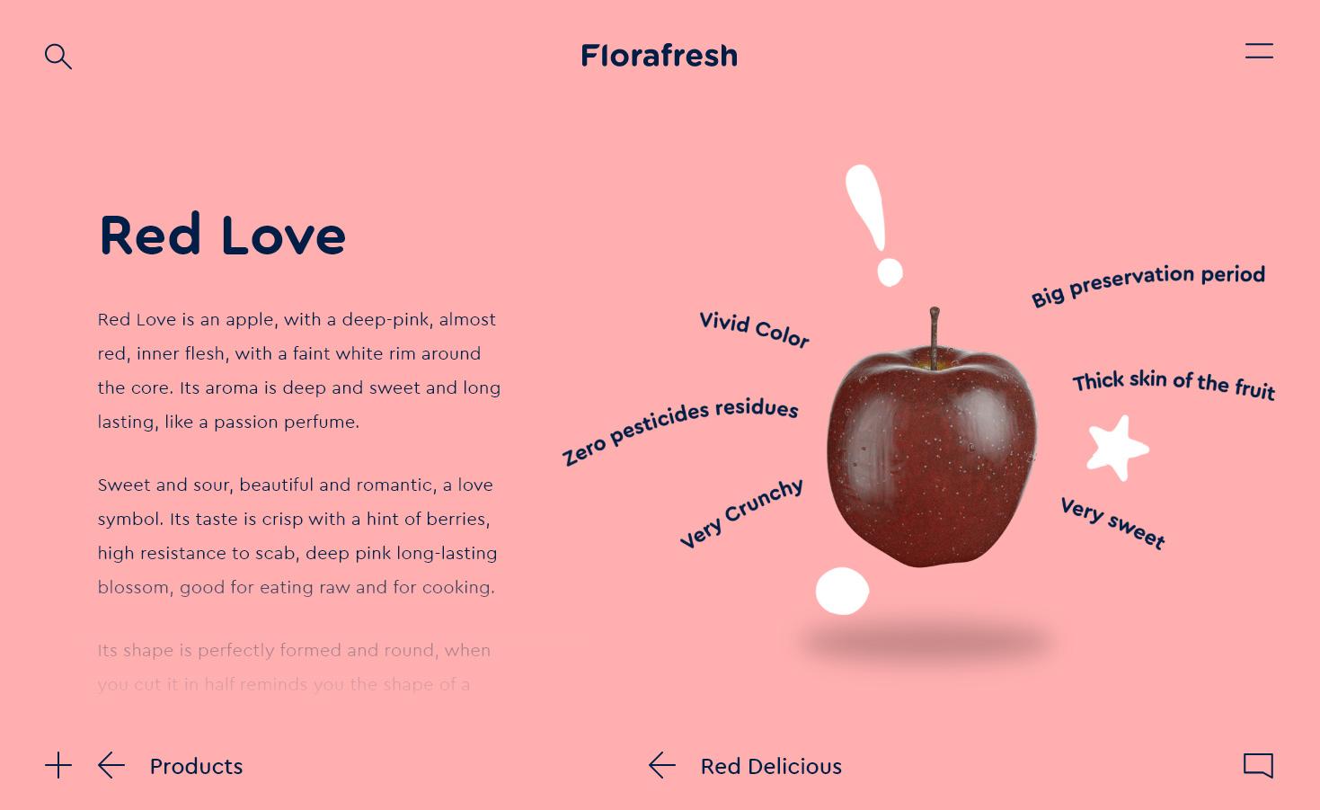 Florafresh website - apple page